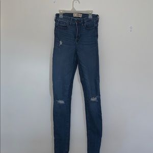 Hollister high rise ripped jeans